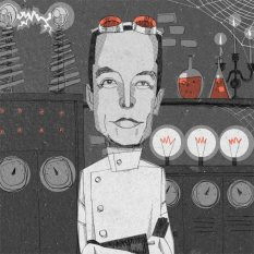 Elon Musk Mad Scientist Illustration